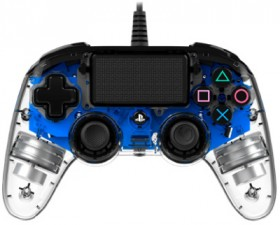 PS4-Wired-Controller-Illuminated-Light-Blue on sale