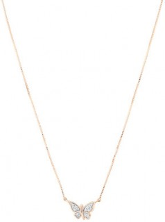 Butterfly-Necklace-with-Diamonds-in-10ct-Rose-Gold on sale