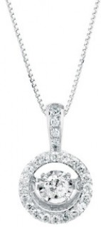 Everlight-Pendant-with-0.33-Carat-TW-of-Diamonds-in-10ct-White-Gold on sale
