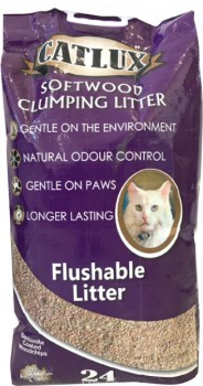 Catlux-Softwood-Clumping-Cat-Litter-24-Litre on sale