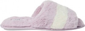 Brilliant-Basics-Womens-Fluffy-Scuff-Lavender on sale