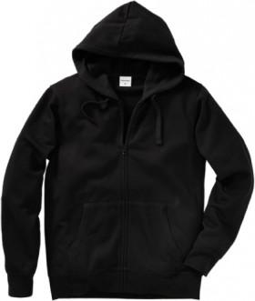 Brilliant-Basics-Mens-Fleece-Zip-Through-Hoodie-Black on sale