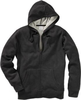 Brilliant-Basics-Mens-Fleece-Zip-Through-Hoodie-Charcoal-Marle on sale