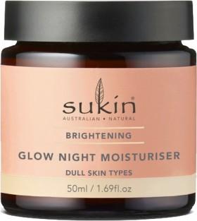 NEW-Sukin-Brightening-Glow-Night-Moisturiser-50ml on sale