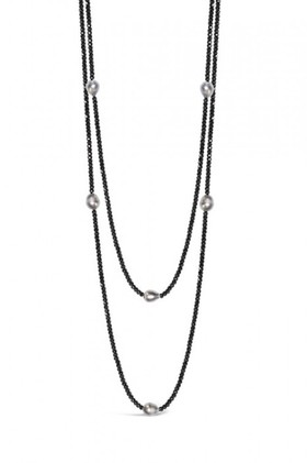 By-Fairfax-Roberts-PearlHaematite-Long-Necklace on sale