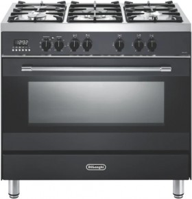 DeLonghi-90cm-Dual-Fuel-Upright-Cooker-Anthracite on sale