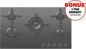 Fisher-Paykel-90cm-Natural-Gas-on-Glass-Cooktop on sale