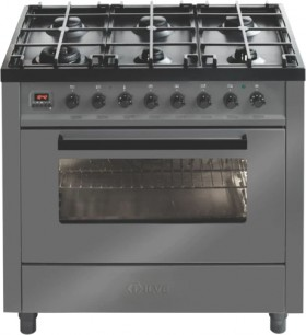 ILVE-90cm-Dual-Fuel-Upright-Cooker-Grey on sale