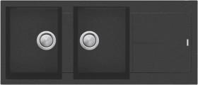 Oliveri-Florence-Black-Double-Bowl-Topmount-Sink on sale