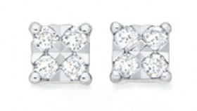 9ct-White-Gold-Diamond-Square-Stud-Earrings on sale
