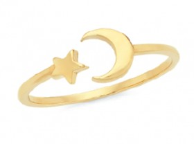 9ct-Gold-Star-Moon-Dress-Ring on sale