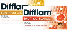 Difflam-Sore-Throat-Lozenges-16-Lozenges-Range on sale