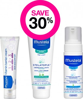 Save-30-on-Mustela-Baby-Care-Range on sale