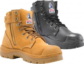 Steel-Blue-Argyle-Zip-Steel-Toe-Bump-Cap-Safety-Boots on sale