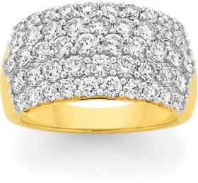 9ct-Gold-Diamond-5-Row-Band on sale