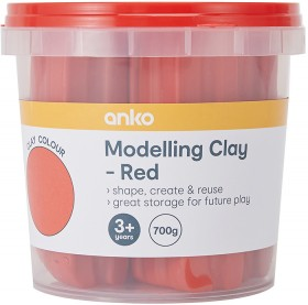 NEW-Modelling-Clay-Tub-700g-Red on sale