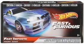 Hot-Wheels-Fast-Furious-5-Car-Premium-Set on sale