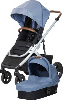 Steelcraft-Strider-Signature-V5-with-Bassinet-Blue-Wren on sale