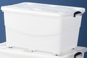 Clear-Store-N-Stack-86L-Rollerbox on sale