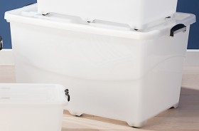 Clear-Store-N-Stack-120L-Rollerbox on sale