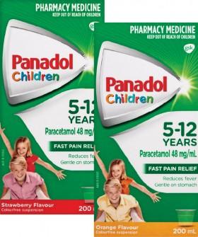 Panadol-Children-5-12-Years-Strawberry-or-Orange-200mL on sale
