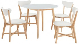 Toto-5-Piece-Dining-Set-with-Elke-Chairs on sale