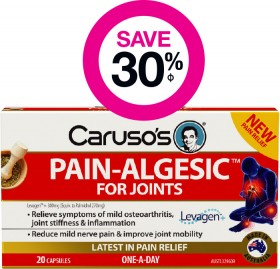 Save-30-on-Carusos-Pain-Algesic-20-Capsules on sale