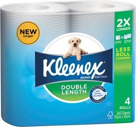 Kleenex-Double-Length-Toilet-Tissue-4-Pack on sale
