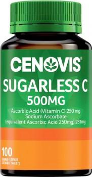 Cenovis-Sugarless-Vitamin-C-500mg-Orange-Chewable-Tablets-100-Pack on sale