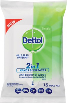 Dettol-2-in-1-Hands-Surfaces-Anti-bacterial-Wipes-15-Pack on sale
