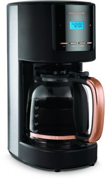 NEW-Morphy-Richards-Rose-Gold-Accents-Drip-Coffee-Machine-Black on sale