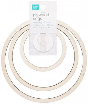 NEW-Craftsmart-3-Piece-Plywood-Rings on sale