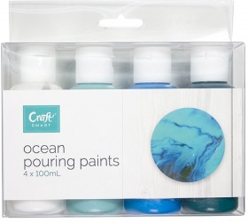 NEW-Craftsmart-4-Pack-Ocean-Pouring-Paints-100mL on sale