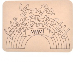 Kaisercraft-Mothers-Day-Wooden-Placemat-Youre-Wonderful-Mum on sale