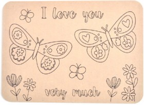 Kaisercraft-Mothers-Day-Wooden-Placemat-Butterfly-Love on sale