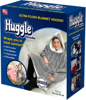 NEW-As-Seen-On-TV-Huggle-Hoodie-Grey on sale