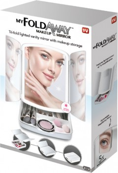NEW-As-Seen-On-TV-My-Fold-Away-Makeup-Mirror on sale