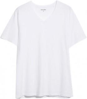 Brilliant-Basics-Mens-Basic-V-Neck-Tee-White on sale
