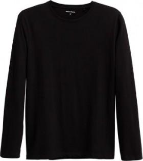Brilliant-Basics-Mens-Long-Sleeve-Organic-Cotton-Tee-Black on sale