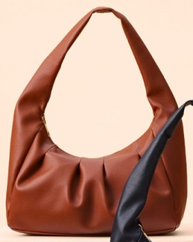 me-Gathered-Shoulder-Bag-Toffee on sale