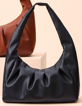 me-Gathered-Shoulder-Bag-Black on sale