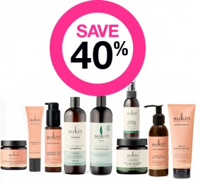 Save-40-on-Sukin-Skincare-Haircare-Baby-Mens-Ranges on sale