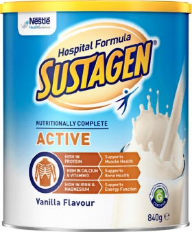 Sustagen-Hospital-Formula-Active-Vanilla-840g on sale