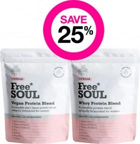 Save-25-on-Free-Soul-Vegan-Protein-Range on sale