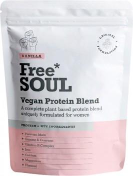 Freesoul-Vegan-Protein-Blend-Vanilla-510g on sale