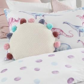 Kids-Pom-Pom-Pink-Round-Cushion-by-Pillow-Talk on sale