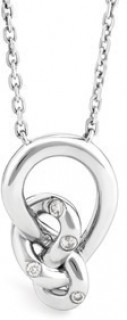 Mini-Knots-Necklace-with-Diamonds-in-Sterling-Silver on sale
