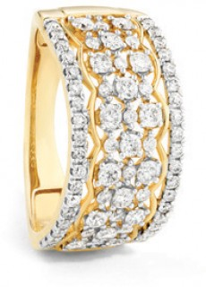 NEW-Multi-Row-Ring-with-1-Carat-TW-of-Diamonds-in-10ct-Yellow-Gold on sale