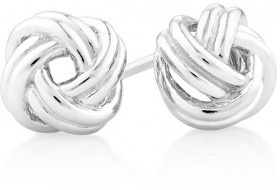 Knotted-Swirl-Studs-in-Sterling-Silver on sale