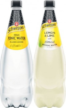 Schweppes-Mixers-Soft-Drinks-or-Mineral-Water-1.1-Litre on sale